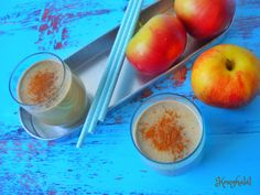 almás-diós smoothie Levek, Puding, Peach, Fruit, Dios, Peaches