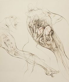 Hans Bellmer - L'oeuf, 1970, etching edition of 100