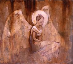 J Kirk Richards - Figure with Wings X