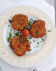 New! Tomatokeftedes { Greek Tomato Balls} via cookingforkeeps.com