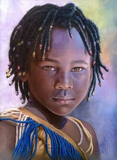 Niña de Africa 62 Óleo sobre lienzo -2012- 30 x 40 cm