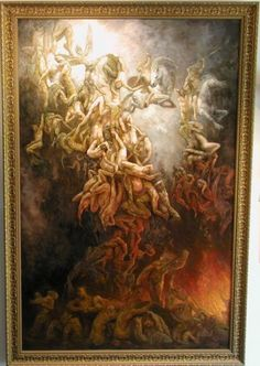 """""""The Fall of the Damned"""" oil on canvas 48"""" x 72"""
