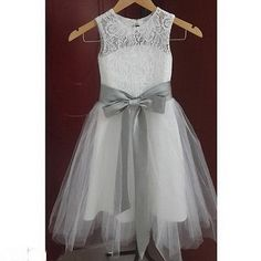 2016 NEW Lace Flower Girl Dress Wedding Easter Junior Bridesmaid Baptism Party