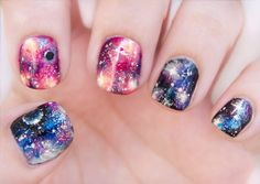Pretty (Squared): Galaxy Nails - Nail Art Tutorial