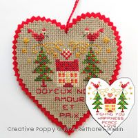Happiness, Peace and Love Ornament~M.A. Rethoret-Mélin