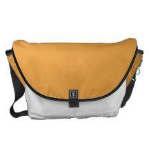 Mandarin White Black  Large Rickshaw Messenger Bag