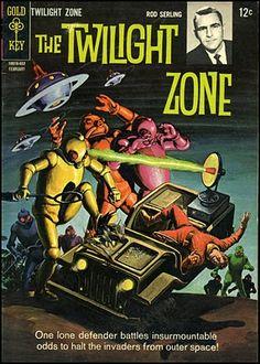Vintage Comic Book Cover Art / The Twilight Zone Cosmic Comics, Sci Fi Comics, Horror Comics, Vintage Comic Books, Vintage Comics, Comic Books Art, Book Art, Pulp Fiction, Science Fiction