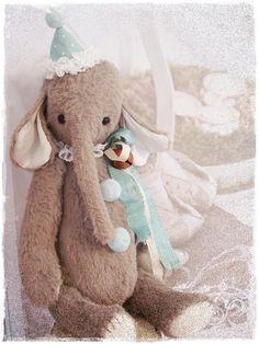 * Bastelpackung (Kit) * Vintage Elefant EDDIE * :)