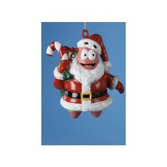 """$7.99-$10.99 Patrick Star in Santa Suit Blow Mold SpongeBob Christmas Ornament 3.25"""" - SpongeBob SquarePants Christmas Ornaments Item #SB1801 Officially licensed merchandise  Patrick dons a festive Santa suit and bag of presents Fully dimensional ornament Ornament comes ready-to-hang on a gold cord  Dimensions: 3.25""""H x 2.25""""W x 2.75""""D Material(s): blow-molded plastic http://www.amazon.com/dp/B005D7OIYO/?tag=pin2wine-20"""