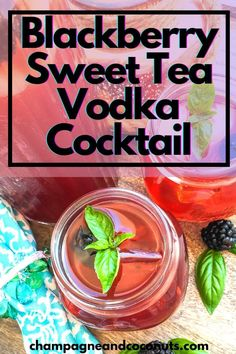 Enjoy sipping a yummy Blackberry Sweet Tea Vodka Cocktail. Make your fresh blackberry iced tea in the Instant Pot and add in some yummy sweet tea vodka for a refreshing cocktail! Easy to make, and you can easily serve the blackberry iced tea without the vodka too! Non Alcoholic Drinks Cocktails, Iced Tea Cocktails, Cocktail And Mocktail, Refreshing Cocktails, Drinks Alcohol Recipes, Tea Recipes, Cocktail Recipes, Drink Recipes, Beverages