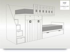 11 maneras de aprovechar el hueco de la escalera paredes - Literas tipo tren medidas ...
