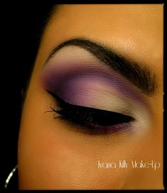 Purple Haze with demi-matte highlight.  Don't know about all that-I'm not a girly girl-but I do wish someone could show me how to do this, it looks really pretty!