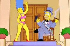 Previous: Zebra Entrance (Futurama) Next: Not Funny (Sesame Street) Similarly Awesome GIFs:Mmm… Bacon. (The Simpsons)Good news everybody! (The Simpsons / Futurama)Hypnotoadized Homer (The Simpsons / Futurama)Middle Finger (Homer Simpson)Simpsons Downvote Homer Simpson, Homer And Marge, Simpsons Drawings, Simpsons Art, Adult Animated Shows, Simpsons Videos, Bobs Burgers, Great Tv Shows, Cartoons