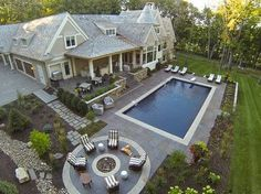 Hamptons Willow Residence - traditional - pool - minneapolis - Hendel Homes