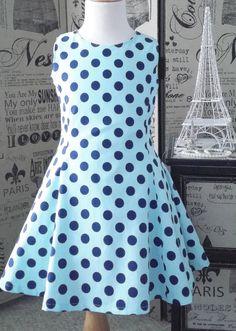 Girl Vintage Inspired Dress Girls Retro Dress by sultrysplendor