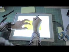 """One of Canada's 15 most influential artists shows how he creates his viral """"Yellow Sticky Notes"""" using the Artograph LightPad. Amazing!"""