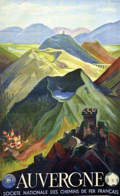 Auvergne - France - 1938 - illustration de André Giroux