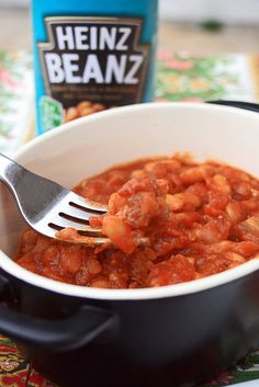 baked beans. Haricots Anglais