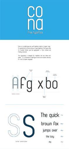 Cona Free typeface