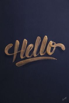 Creative Typography, Lettering, Golden, Collection, and 13 image ideas & inspiration on Designspiration Inspiration Typographie, Typography Inspiration, Design Inspiration, Type Design, Design Art, Web Design, Types Of Lettering, Brush Lettering, Brush Script