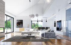 Projekt domu Wyjątkowy 2 - 201.09 m2 - koszt budowy 361 tys. zł House Plans Mansion, Dream House Plans, Modern Exterior House Designs, Modern House Design, House Layout Plans, House Layouts, House Outside Design, House Design Pictures, Beautiful House Plans