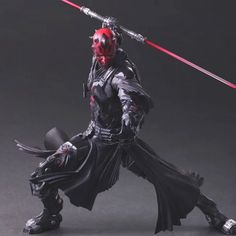 This Japanese Darth Maul Figure Looks Totally Badass Darth Maul Clone Wars, Darth Vader, Imperial Stormtrooper, Badass, Knight, Action Figures, Star Wars, Japanese, Play