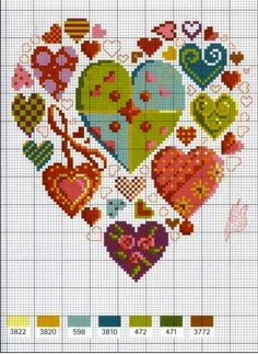 You Are My Heart (free cross stitch heart and heart sam… Embroidery Hearts, Cross Stitch Embroidery, Embroidery Patterns, Floral Embroidery, Mini Cross Stitch, Cross Stitch Heart, Wedding Cross Stitch Patterns, Cross Stitch Designs, Cross Stitch Pictures