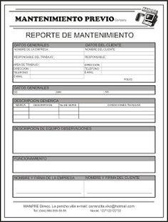 Resultado de imagen para modelo de informe tecnico DE MANTENIMIENTO PRTEVENTIVO