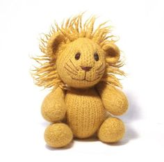 "Lion Knitting Pattern - #ad Toy plush lion knitting pattern. Felted size approx 30cm /12"" tall"