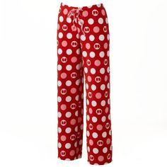 SONOMA life + style® Microfleece Pajama Pants ($2) ❤ liked on Polyvore featuring intimates, sleepwear, pajamas, red dot owl, polka dot pjs, red polka dot pajamas, microfleece pajamas, polar fleece pajamas and pj pants