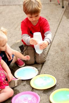Fizzing frozen airplanes--science and fine motor play in one activity! (plus ideas for airplane sensory bin)
