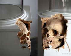 Maskull Lasserre. Canadian artist creates sculptural work from common objects.