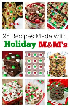 Holiday M&M Recipes