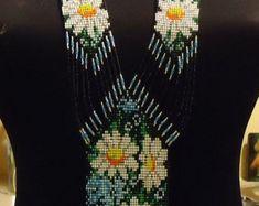 Items similar to Modern Handmade Jewelry Beaded Necklace Waterfall Gerdan White /Silver With Moonstones. on Etsy Beaded Jewelry, Handmade Jewelry, Beaded Necklace, Unique Jewelry, Handmade Gifts, Moonstones, Etsy, Ukraine, Flowers