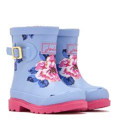 Sky Blue Floral Rain Boot - Infant & Toddler