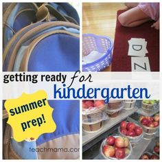 How to prepare your child for kindergarten from Teach Mama - beautiful ideas!
