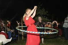 Hula hoops!  Loads of other great wedding game ideas on this site and in the comments