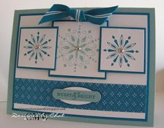 Me, My Stamps and I using Stampin' Up! Snowflake Spot retired stamp set.
