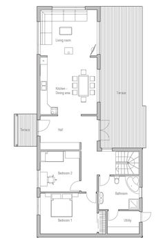 Small House Plan CH2. Simple Floor Plan.