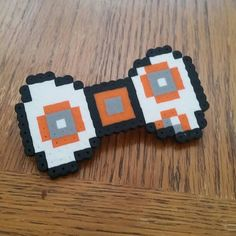 BB-8 Star Wars Hair Bow perler beads by SunshinesBoxes