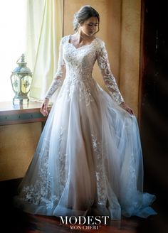 Simple Dress Modest Wedding Dresses Simple Inspirational Modest Bridal by Mon Cheri Tr Long Sleeve Wedding Dress Mon Cheri Wedding Dresses, Modest Wedding Gowns, Dream Wedding Dresses, Modest Dresses, Bridal Dresses, Catholic Wedding Dresses, Mormon Wedding Dresses, Backless Wedding, Christmas Wedding Dresses
