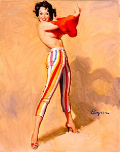 Swim, Anyone? - Gil Elvgren 1969