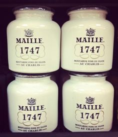 Gorgeous French packaging... Maille and Hediard (diagonal from one another in Place Madeleine) is where i buy my groceries when in Paris <3