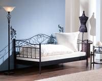 Ikea metallbett schwarz 90x200  Buy John Lewis Oregan Metal Bedstead, Black, Kingsize Online at ...
