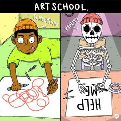 art school perception vs. reality
