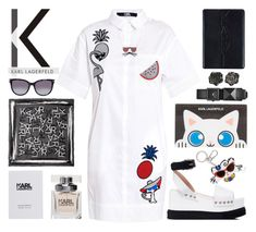"""""""K A R L"""" by rasa-j ❤ liked on Polyvore featuring Karl Lagerfeld, womenfashion, karllagerfeld and summer2016"""