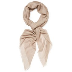Chan Luu Women's Cashmere & Silk Long Solid Scarf - Light/Pastel Brown ($79) ❤ liked on Polyvore featuring accessories, scarves, cashmere shawl, oblong silk scarves, oblong scarves, pure silk scarves and cashmere scarves