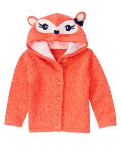 I am such a sucker for all this fox stuff. Harper must have it all! Fox Hooded Cardigan at Gymboree