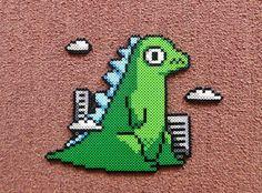 Long Black Fingers : Little Godzilla Perler Bead