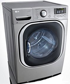 #washeranddryer 7.3 Cu. Ft. #Graphite #Steel Stackable With Steam Cycle Electric Dryer